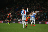 Football - 2017 / 2018 Premier League - AFC Bournemouth vs. Huddersfield Town<br /> <br /> Message received boss as Scott Malone of Huddersfield Town gives a thumbs up to the bench at Dean Court (Vitality Stadium) Bournemouth <br /> <br /> COLORSPORT/SHAUN BOGGUST
