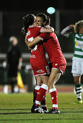 Rosella Ayane of Bristol City Women celebrates her second goal with Georgia Evans of Bristol City Women - Mandatory by-line: Dougie Allward/JMP - Mobile: 07966 386802 - 23/03/2016 - FOOTBALL - Stoke Gifford Stadium - Bristol, England - Bristol City Women v Yeovil Town Ladies - FA Women's Super League 2