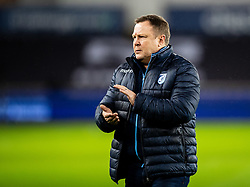 Head Coach John Mulvihill of Cardiff Blues during the pre match warm up<br /> <br /> Photographer Simon King/Replay Images<br /> <br /> Guinness PRO14 Round 8 - Ospreys v Cardiff Blues - Saturday 21st December 2019 - Liberty Stadium - Swansea<br /> <br /> World Copyright © Replay Images . All rights reserved. info@replayimages.co.uk - http://replayimages.co.uk