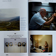 "Tearsheet of ""Irish Ascent"" published in Icon Magazine"
