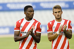 August 2, 2018 - Sabadell, Spain - 26 Yhoan Andzouana from Republica del Congo and 23 Aleix Garcia from Spain of Girona FC during the friendly game against the CE Sabadell of the 2018/2019 La Liga pre season in la Nova Creu Alta Stadium, Sabadell on 02 of August of 2018. (Credit Image: © Xavier Bonilla/NurPhoto via ZUMA Press)