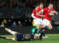 Rugby Union - 2017 British & Irish Lions Tour of New Zealand - Highlanders vs. British & Irish Lions<br /> <br /> Jack McGrath of The British and Irish Lions runs past Josh Dickson of Highlanders at Forsyth Barr Stadium, Dunedin.<br /> <br /> COLORSPORT/LYNNE CAMERON