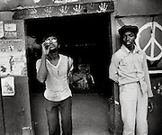 Yardies at Roadside Bar in Jamaica - 1973