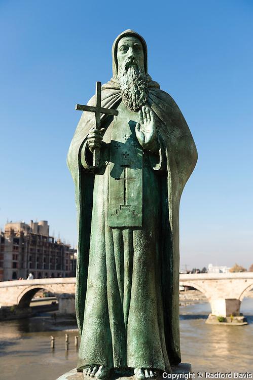 Statue on bridge, Skopje, Macedonia