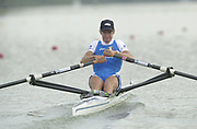 Seville, Andulucia, SPAIN<br /> <br /> 2002 World Rowing Championships - Seville - Spain Sunday 15/09/2002<br /> <br /> ITA LM 1X Stefan Basalini<br /> <br /> [Mandatory Credit:Peter SPURRIER/Intersport Images]