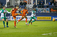 Goal Luton Town forward James Collins (19) scores a goal  during the EFL Sky Bet League 1 match between Luton Town and Plymouth Argyle at Kenilworth Road, Luton, England on 17 November 2018.
