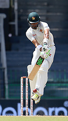 July 14, 2017 - Colombo, Sri Lanka - Zimbabwe cricketer ..Sikandar Raza plays a shot  during the first day of the only Test cricket match between Sri Lanka and Zimbabwe at ..R Premadasa International Cricket Stadium,in the capital city, Colombo, ..Sri Lanka on Friday 14 th July 2017  (Credit Image: © Tharaka Basnayaka/NurPhoto via ZUMA Press)