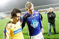 Fotball 29. oktober 2005, tippeliga, LSK vs Molde, Robert Koren, LSK og Matej Mavric, Molde<br /> Foto Kurt Pedersen