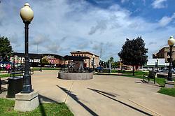27 August 2016:  Mr. Lincoln Square in Clinton Illinois