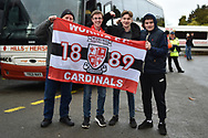 Woking fans with their club banner during the The FA Cup 2nd round match between Swindon Town and Woking at the County Ground, Swindon, England on 2 December 2018.