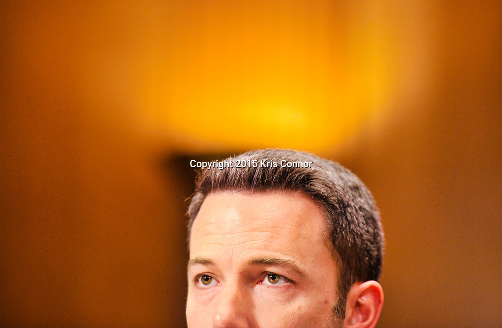 """Actor Ben Affleck speaks during a Senate Appropriations' subcommittee on State, Foreign Operations and Related Programs on """"Diplomacy, Development, And National Security"""" in the Dirsken Senate Office Building on March 26, 2015 in Washington DC."""