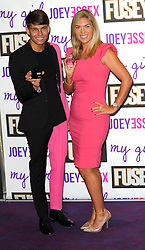 Joey Essex Fragrance Launch.  <br /> (L-R) Joey and Frankie Essex pose during the fragrance launch, Sanctum hotel, London, United Kingdom. Thursday, 12th September 2013. Picture by Chris Joseph / i-Images