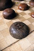 Wood carved bowls, Omoa, Fatu Hiva, Marquesas Islands, French Polynesia