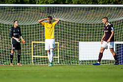 Mustafa Nukic of NK Bravo and Jalen Arko of NK Triglav during football match between NK Triglav and NK Bravo in 8th Round of Prva liga Telekom Slovenije 2019/20, on August 30, 2019 in Sport park ZAK, Ljubljana, Slovenia. Photo by Grega Valancic / Sportida
