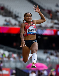 Great Britain's Jazmin Sawyers during day one of the Muller Anniversary Games at The Queen Elizabeth Stadium, London.