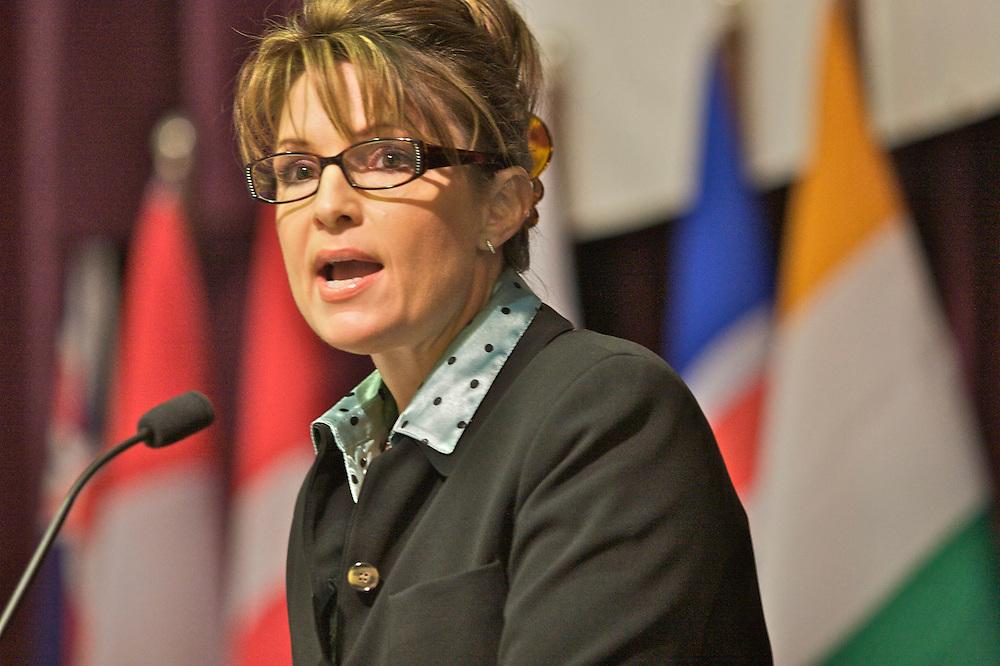 Technology Conference, Anchorage, Alaska, October, 2007, Sarah Palin, Governor of Alaska