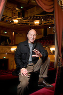 United Kingdom. London. Actor Patrick Stewart at The Gielgud Theatre, Shaftesbury Avenue in London's West End.<br /> Photo shows Patrick Stewart in The Royal Box.<br /> Photo©Steve Forrest/Insight-Visual