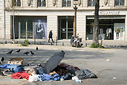 """March, 27th 2020 - Paris, Ile-de-France, France: Paris under confinement, Zadig Voltaire, Avenue Montaigne area of high fashion, beauty, accessories, haute couture, all shops closed, in 8th arrondissement, and all public spaces virtually empty to stop the spread of the Coronavirus, during the eleventh day of near total lockdown imposed in France. The President of France, Emmanuel Macron, said the citizens must stay at home for at least 15 days, that has been extended. He said """"We are at war, a public health war, certainly but we are at war, against an invisible and elusive enemy"""". All journeys outside the home unless justified for essential professional or health reasons are outlawed. Anyone flouting the new regulations is fined. Nigel Dickinson"""