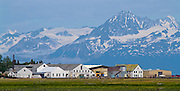 Alaska. Historic Kenai Landing, previously the Libby, McNeil and Libby Cannery in the 1920's, sold to Columbia Wards Fisheries in 1960's which became the Wards Cove Packing Company in 1983 and operated it there until1999.  Kenai Landing remains one of the best preserved longterm canneries in the U.S., and now provides a site for lodging, RV sites, boat launching, river waterfront viewing and historical tours.  Mt. Iliamna looms in the background.