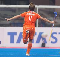 BHUBANESWAR  (INDIA) -  Quater Finals Netherlands vs Pakistan (2-4),  of the Hero Champions Trophy Hockey.  <br /> Jeroen Hertzberger of the Netherlands scored.