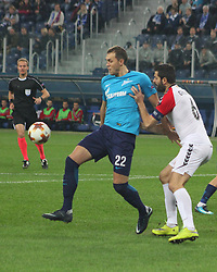 November 23, 2017 - Saint-Petersburg, Russia - Of The Russian Federation. Saint-Petersburg. Arena Saint-Petersburg. Zenit-arena. Football match of the UEFA Europa League, group stage: Zenit - FK Vardar. The player of football club Artem Dzyuba; Artem Dzyuba; (Credit Image: © Russian Look via ZUMA Wire)