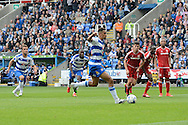 Reading striker Nick Blackman scores a penalty during the Sky Bet Championship match between Reading and Middlesbrough at the Madejski Stadium, Reading, England on 3 October 2015. Photo by Alan Franklin.