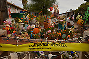 A Halloween display in the yard of a home, Tombstone, Arizona, USA.