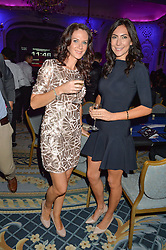 Left to right, ABBY COHEN former wife of Ben Cohen and LOUISE COLE at the Quintessentially Foundation's Poker Night held at The Savoy, London on 13th October 2016.