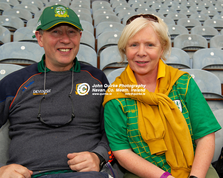 26-06-21. Meath v Kerry - Lidl Ladies National Football League Division 2 Final at Croke Park.<br /> Donal and Jacqueline Wall Beaupark, Navan were supporting the Meath Ladies in Croke.<br /> Photo: John Quirke / www.quirke.ie<br /> ©John Quirke Photography, 16 Proudstown Road, Navan. Co. Meath. (info@quirke.ie / 046-9028461 / 087-2579454).