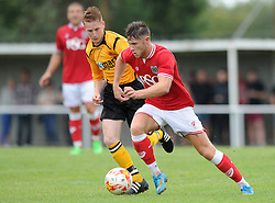 Wes Burns of Bristol City in action against Keynsham Town - Photo mandatory by-line: Dougie Allward/JMP - Mobile: 07966 386802 - 05/07/2015 - SPORT - Football - Bristol - Brislington Stadium - Pre-Season Friendly