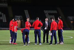 Stoke City players gather in the pitch before kick off - Photo mandatory by-line: Matt McNulty/JMP - Mobile: 07966 386802 - 26/01/2015 - SPORT - Football - Rochdale - Spotland Stadium - Rochdale v Stoke City - FA Cup Fourth Round