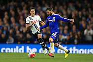 Cesc Fabregas of Chelsea in action. .Barclays Premier league match, Chelsea v Tottenham Hotspur at Stamford Bridge in London on Monday 2nd May 2016.<br /> pic by Andrew Orchard, Andrew Orchard sports photography.