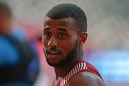 Owaab Barrow (Qatar), 100m Men - Preliminary Round, during the 2019 IAAF World Athletics Championships at Khalifa International Stadium, Doha, Qatar on 27 September 2019.