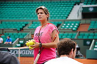 Amelie MAURESMO coach de  Andy MURRAY  - 21.05.2015 -  Roland Garros 2015<br />Photo : Nolwenn Le Gouic / Icon Sport