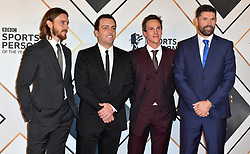 (From left to right) Tommy Fleetwood, Francesco Molinari, Thorbjorn Olesen and Padraig Harrington during the red carpet arrivals for the BBC Sports Personality of the Year 2018 at The Vox at Resorts World Birmingham.