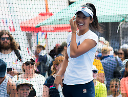 December 30, 2018 - Brisbane, AUSTRALIA - Priscilla Hon of Australia hits balls with kids at the 2019 Brisbane International WTA Premier tennis tournament (Credit Image: © AFP7 via ZUMA Wire)