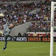 Scotland goalkeeper Allan McGregor can't stop the goal by Landon Donovan during an international friendly soccer match between Scotland and the United States at EverBank Field on Saturday, May 26, 2012 in Jacksonville, Florida.  The United States won the match 5-1 in front of 44,000 fans. (AP Photo/Alex Menendez)
