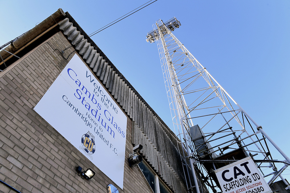 A general view of The Cambs Glass Stadium, home of Cambridge United<br /> <br /> Photographer Chris Vaughan/CameraSport<br /> <br /> The EFL Sky Bet League Two - Cambridge United v Blackpool - Saturday 14th January 2017 - The Cambs Glass Stadium - Cambridge<br /> <br /> World Copyright © 2017 CameraSport. All rights reserved. 43 Linden Ave. Countesthorpe. Leicester. England. LE8 5PG - Tel: +44 (0) 116 277 4147 - admin@camerasport.com - www.camerasport.com