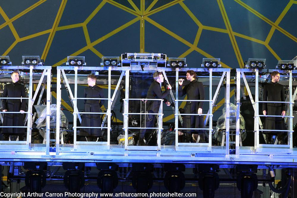 18/6/11 Take That at Croke Park. Picture;Arthur Carron