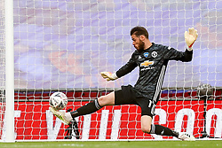 David De Gea of Manchester United can't stop Harry Maguire of Manchester United's deflection to concede a goal making it 3-0 to Chelsea - Mandatory by-line: Rogan/JMP - 19/07/2020 - FOOTBALL - Wembley - London, England - Manchester United v Chelsea - Emirates FA Cup