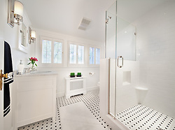 7207 Maple Ave. Chevy Chase, MD Architect builder Anthony Wilder Master Bathroom