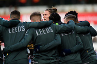 Leeds United's Luke Ayling during the pre-match warm-up <br /> <br /> Photographer Chris Vaughan - CameraSport<br /> <br /> The EFL Sky Bet Championship - Huddersfield Town v Leeds United - Saturday 7th December 2019 - John Smith's Stadium - Huddersfield<br /> <br /> World Copyright © 2019 CameraSport. All rights reserved. 43 Linden Ave. Countesthorpe. Leicester. England. LE8 5PG - Tel: +44 (0) 116 277 4147 - admin@camerasport.com - www.camerasport.com