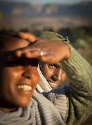Portrait of two women near Hawzen, Gheralta area, Tigray, Ethiopia, Horn of Africa