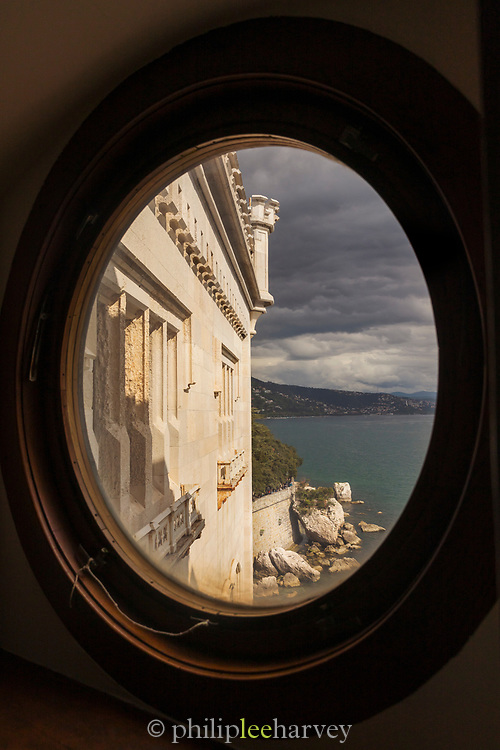 View from Miramare Castle, Trieste, Italy