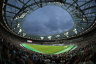 a General view of the London Stadium before the 2nd half starts. UEFA Europa league, 3rd qualifying round match, 2nd leg, West Ham Utd v NK Domzale at the London Stadium, Queen Elizabeth Olympic Park in London on Thursday 4th August 2016.<br /> pic by John Patrick Fletcher, Andrew Orchard sports photography.