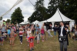Latitude Festival 2017, Henham Park, Suffolk, UK. Bubble maker in the children's area