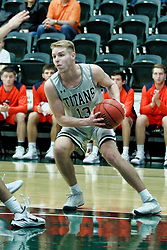 BLOOMINGTON, IL - December 15: Brady Rose during a college basketball game between the IWU Titans  and the Carroll Pioneers on December 15 2018 at Shirk Center in Bloomington, IL. (Photo by Alan Look)