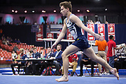 University of Michigan Men's Gymnastics competes at the Windy City Invite in Chicago, Illinois, Saturday, Jan. 19, 2019.