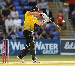 Gloucestershire's Miles Hammond sends one to the boundary<br /> <br /> Photographer Simon King/Replay Images<br /> <br /> Vitality Blast T20 - Round 8 - Glamorgan v Gloucestershire - Friday 3rd August 2018 - Sophia Gardens - Cardiff<br /> <br /> World Copyright © Replay Images . All rights reserved. info@replayimages.co.uk - http://replayimages.co.uk