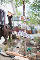 Madrid, NM has become an artists' community with galleries lining New Mexico State Road 14 (the Turquoise Trail). It retains remnants of its history with the Mineshaft Tavern and the Coal Mine Museum.